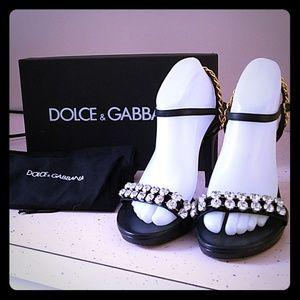 AUTHENTIC DOLCE & GABBANA BLACK HEELS
